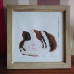 Custom thread painted guinea pig