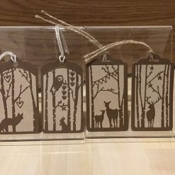 Reindeer snow globe cards
