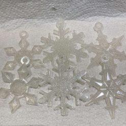 Snowflake tree decorations 15