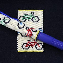 Bicycles  Even Count Peyote Pen Cover
