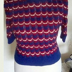Hand knit jumper made to 1940s pattern called 'victory'