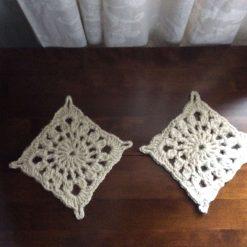 Handmade Crochet Natural Jute Twine Coasters set of 2