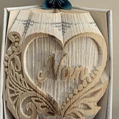 Nan in a Heart Book Fold