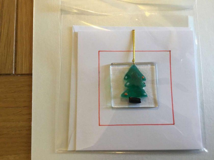 Clear Star Christmas Card