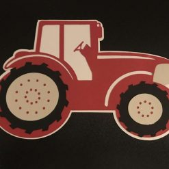 Handmade little red tractor card
