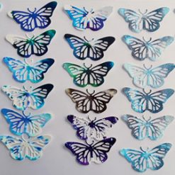 Unique one of a kind Butterfly die cut shapes - 6 to a pack