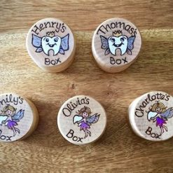 Small Wooden Tooth Fairy Boxes
