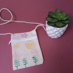 Children's handprinted cross-body bag