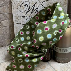 Lush green hair wrap