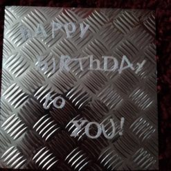 6 x 6 Inch Industrial Style Birthday Card