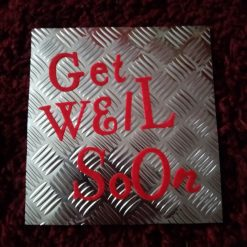 Industrial Style 6 x 6 Get Well Soon Card