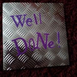 6 x 6 inch Industrial Metal Style Well Done Card