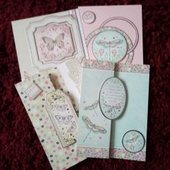 Set Of 4 A5 Size Dragonflies And Butterflies Cards
