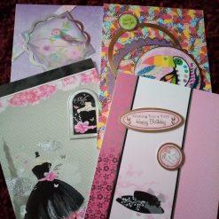Set Of 4 A5 Ladies Birthday Cards