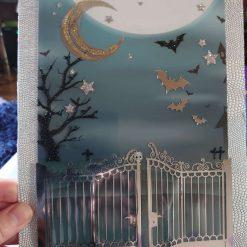 Bat Halloween card.