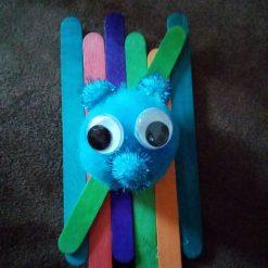 Coloured Lolly Stick, Boggle Eyed Monster Fridge Magnet