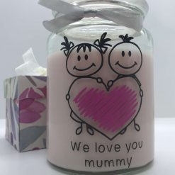 Personalised scented candle_ Cute kids_ mummy_ I Love You_ Gift