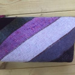 Purple Wool Tweed Make Up Bag 8