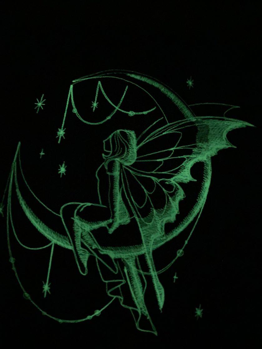 Handmade glow in the dark fairy reading cushion 3