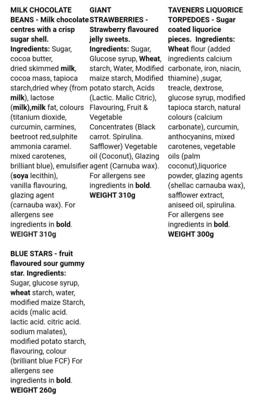 Sweet Jars - Vegan, Dairy Free, Gluten Free available