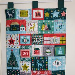 "Re-usable Quilted Fabric ""Merry Advent"" Advent Calendar"