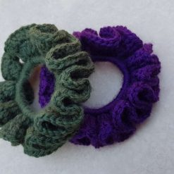 Set of 2 crocheted hair scrunchies 11