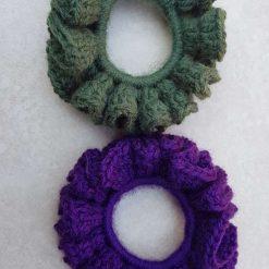 Set of 2 crocheted hair scrunchies 10
