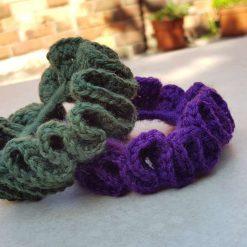 Set of 2 crocheted hair scrunchies 8