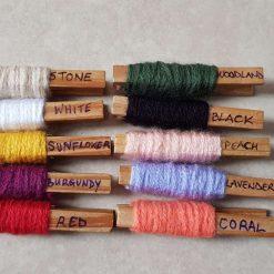 Set of 2 crocheted hair scrunchies 9
