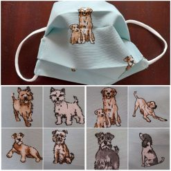 Face mask   Dog design.  Choose your own dog  with supersoft elastic ear loops