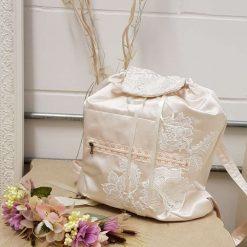 Silk Satin Handcrafted Bridal backpack