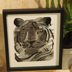 tiger thread painting.  Artwork.  Home decore 7