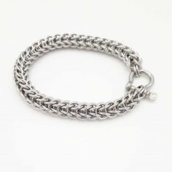 Gents/ Unisex Full Persian Chainmaille/Chainmail Full Persian Stainless Steel Bracelet