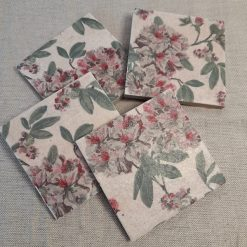 Coasters - Set of four hydrangea ceramic