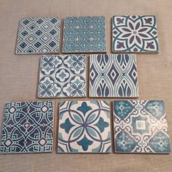 Coasters - Set of four Moroccan style ceramic