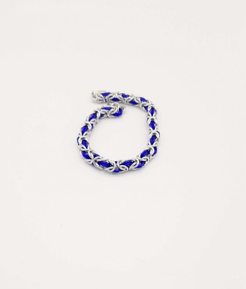 Handwoven Ladies Byzantine Chainmaille/Chainmail Bracelet in a Wide Choice of Colours