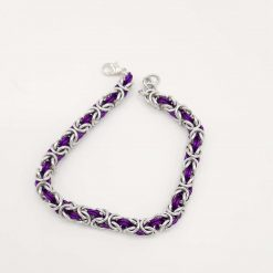 Handwoven Ladies Byzantine Chainmaille/Chainmail Bracelet in a Wide Choice of Colours 3