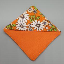 Bookmark - Corner Bookmark - Bright Orange, Floral