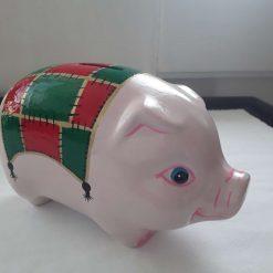 Ceramic pig money box