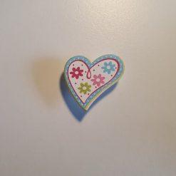 Pink Wooden Heart Needle Minder