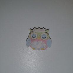 Pink Wooden Owl Needle Minder