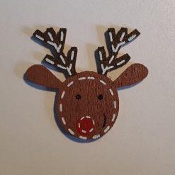 Xmas Reindeer Wooden Needle Minder