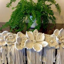 'Heligan Hues' Boho Wall Hanging Macrame Flowers (Free P&P)