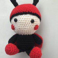 Hand crochet Ladybird doll