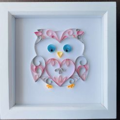 Framed Handmade Rainbow Heart – Original quilling art, great nursery / bedroom decor or Mother's Day