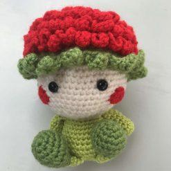 Hand crochet Rose baby doll