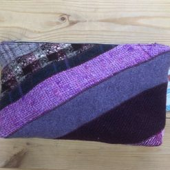 Purple Wool Tweed Make Up Bag 9