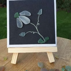 Sea Glass flower on canvas