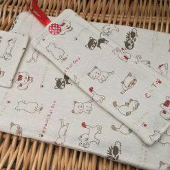 Handmade Cute Cat Book Sleeve Bookmark SueLovelyCrafts