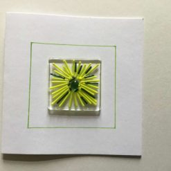 Flower Birthday Card Yellow/Green